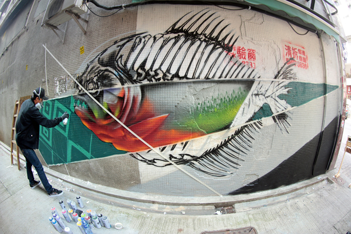 Wailok HKwalls Dmojo Looking Back at HKwalls Street Art Festival 2016 as HKwalls 2017 Nears: Okuda, Dmojo, Suiko, Egg Fiasco, Clogtwo, Colasa, Peeta, Faust & Roid