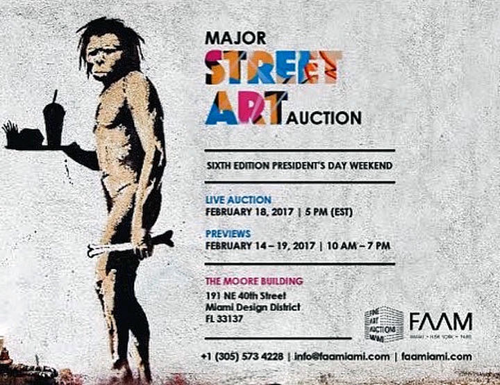 banksy auction FAAM Presents Major Street Art Auction: Faile, Iena Cruz, Tracy 168, Luis Berros, Abstrk, Speedy Graphito, Banksy & more