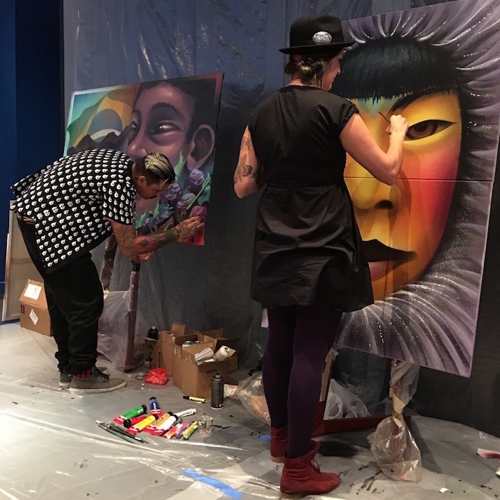 bruno smoky and shalak attack paint <em>Street Art for Mankind</em> Battles Child Slavery with: Bruno Smoky &amp; Shalak Attack, Mr. Cenz, Mr. Dheo, Victor Ash, Jo Di Bona, Trek6 and more