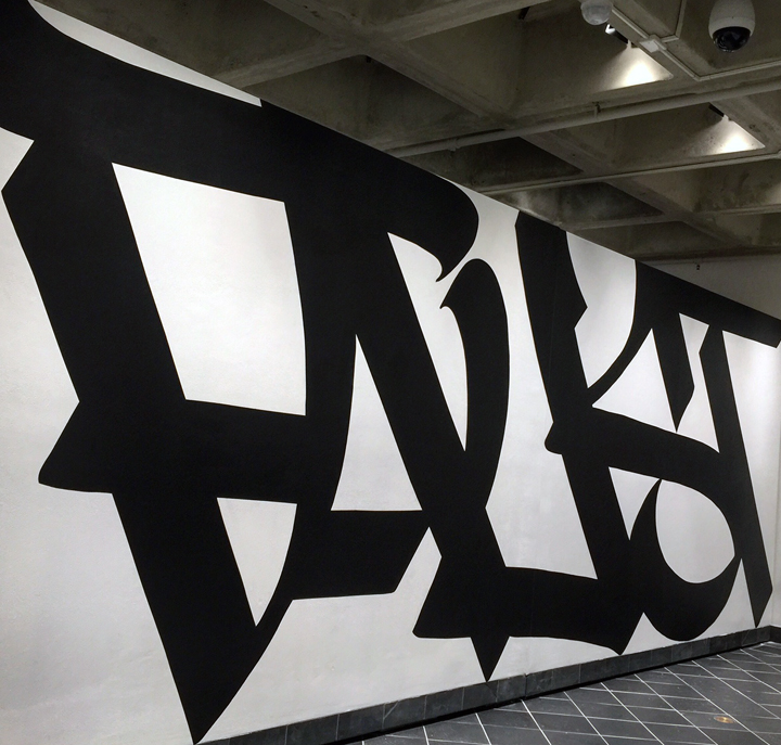 faust handstyle <em>ALL BIG LETTERS</em>    Curated by RJ Rushmore    Continues Through March 3 at the Cantor Fitzgerald Gallery in Haverford, PA
