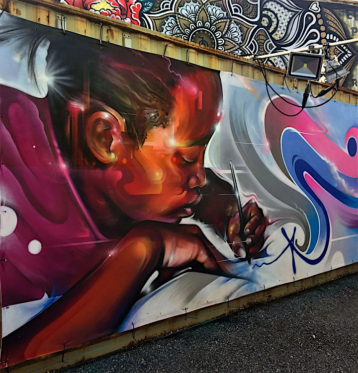 mr cenz close up street art mural <em>Street Art for Mankind</em> Battles Child Slavery with: Bruno Smoky &amp; Shalak Attack, Mr. Cenz, Mr. Dheo, Victor Ash, Jo Di Bona, Trek6 and more