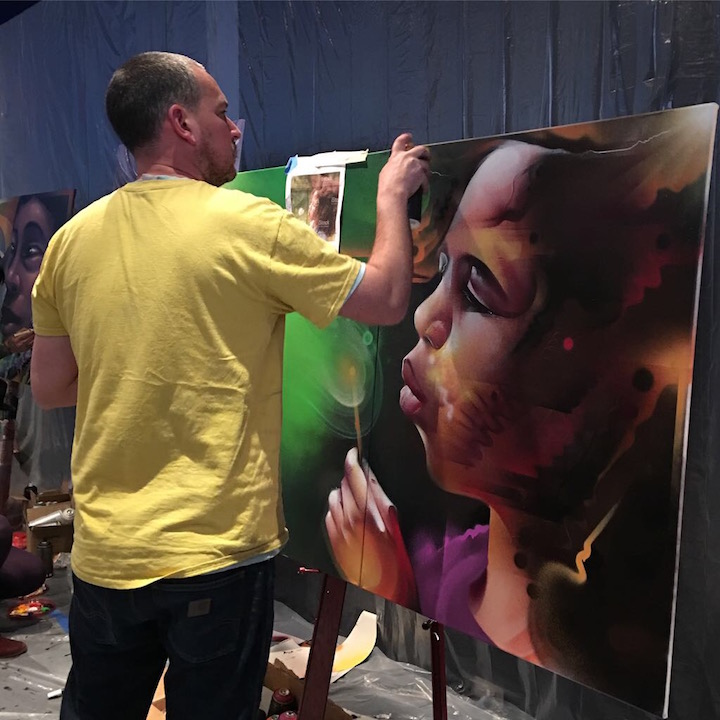 mr cenz paintsJPG <em>Street Art for Mankind</em> Battles Child Slavery with: Bruno Smoky &amp; Shalak Attack, Mr. Cenz, Mr. Dheo, Victor Ash, Jo Di Bona, Trek6 and more