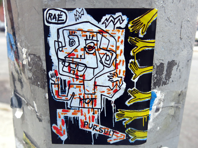 rae sticker bushwick NYC Sticker Art — Part V: Rx Skulls, Chris RWK & K Nor, Todd Colby, Nany Coy, Bines, RAE BK and more