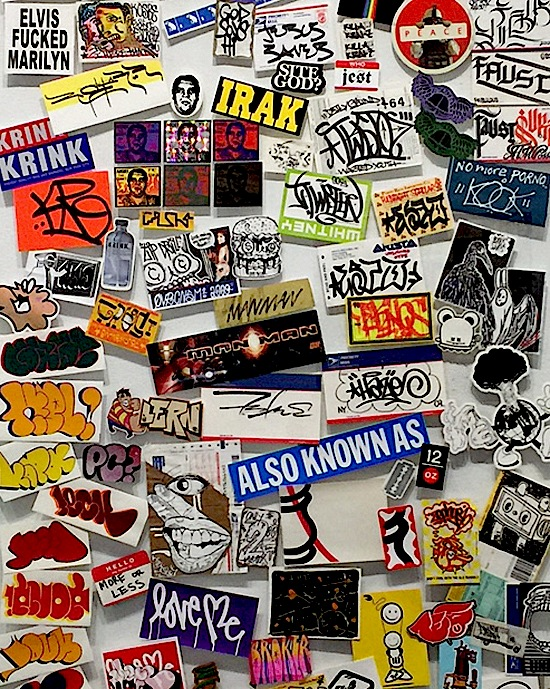 stickers <em>ALL BIG LETTERS</em>    Curated by RJ Rushmore    Continues Through March 3 at the Cantor Fitzgerald Gallery in Haverford, PA