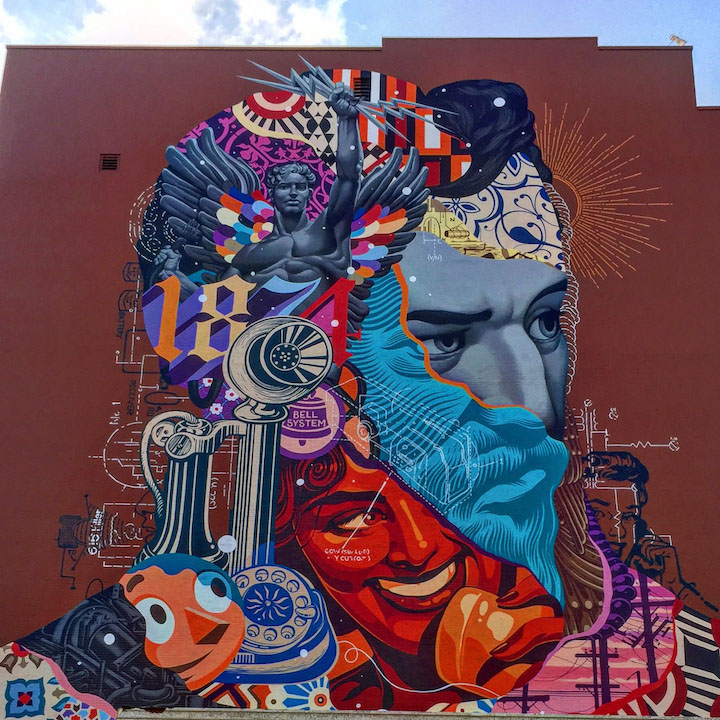 tristan eaton street art In West Palm Beach, Florida with: Tristan Eaton, Sipros and Pipsqueak, Kobra, Astro, Herakut, Case Maclaim & PichiAvo