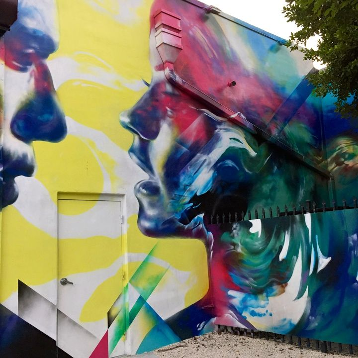 hueman Faces in Wynwood Open Spaces, Part IV: 2alas with Felipe Pantone, Hueman, Sipros, Kevin Ledo, Mr. Dheo and Atomiko