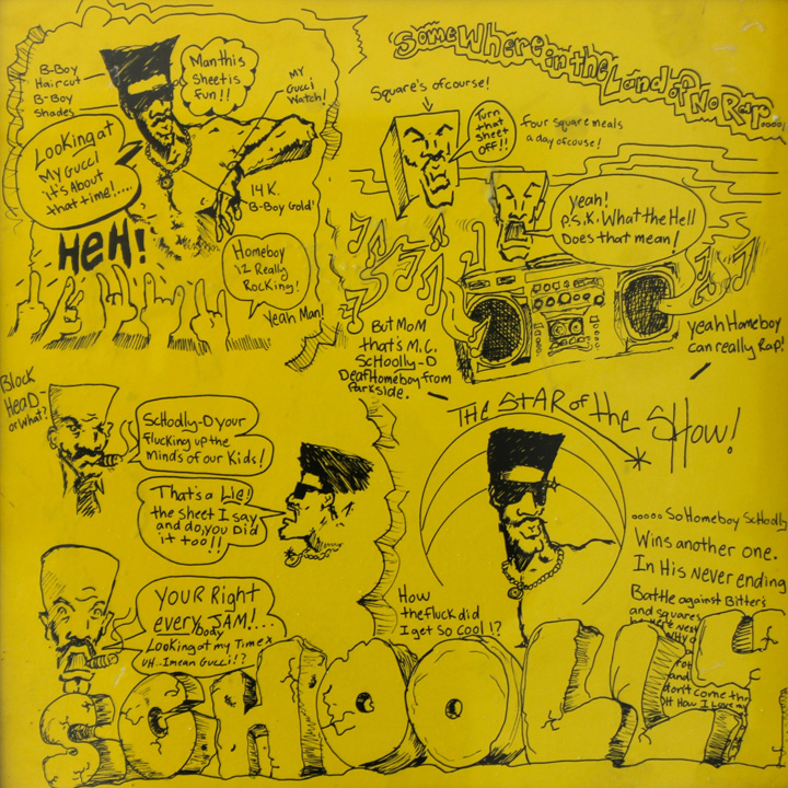 schoollyD smoke some kill original album art Pablo Power &amp; Schoolly D, <em>Philly VS New York: A Declaration of Co Independence</em> at Okay Space in Williamsburg