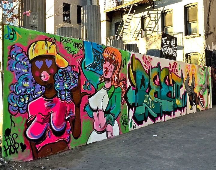 Cheri ree and resa piece graffiti art nyc1 Celebrating <em>International Hip Hop Day</em> at First Street Green Park: T Kid, Jerms, Doves, Lady K Fever, Andres Correa, Kool Kito, Marcelo Ment, La Femme Cheri, Ree, Resa Piece and more
