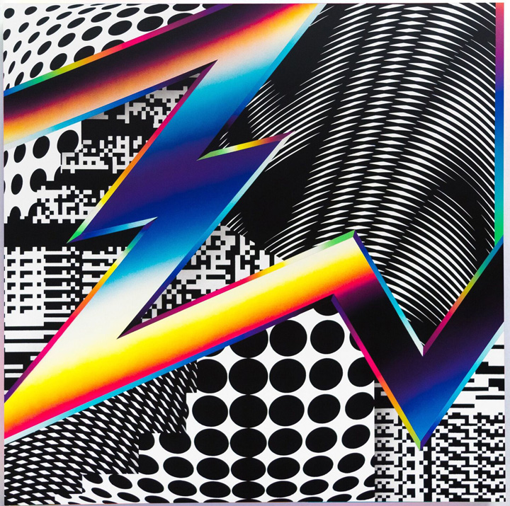 Pantone interferences Felipe Pantone at GR Gallery on the Bowery and on the Streets of Greenpoint, Brooklyn and more