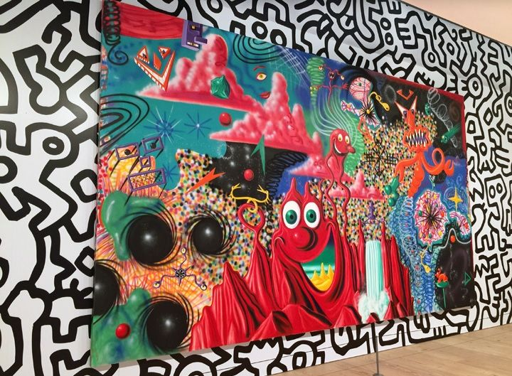 kenny-scharf-and-keith-haring-painting