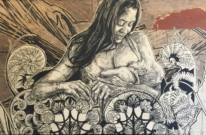 swoon <em>Fem is in</em> Continues Through Next Saturday at Fat Free Art with: Lady Pink, Alice Mizrachi, Queen Andrea, Jane Dickson, Swoon &amp; more