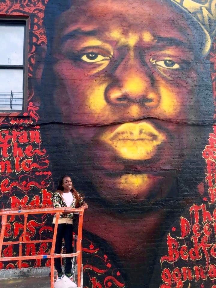 Tyanna-Wallace-with-Biggie-mural