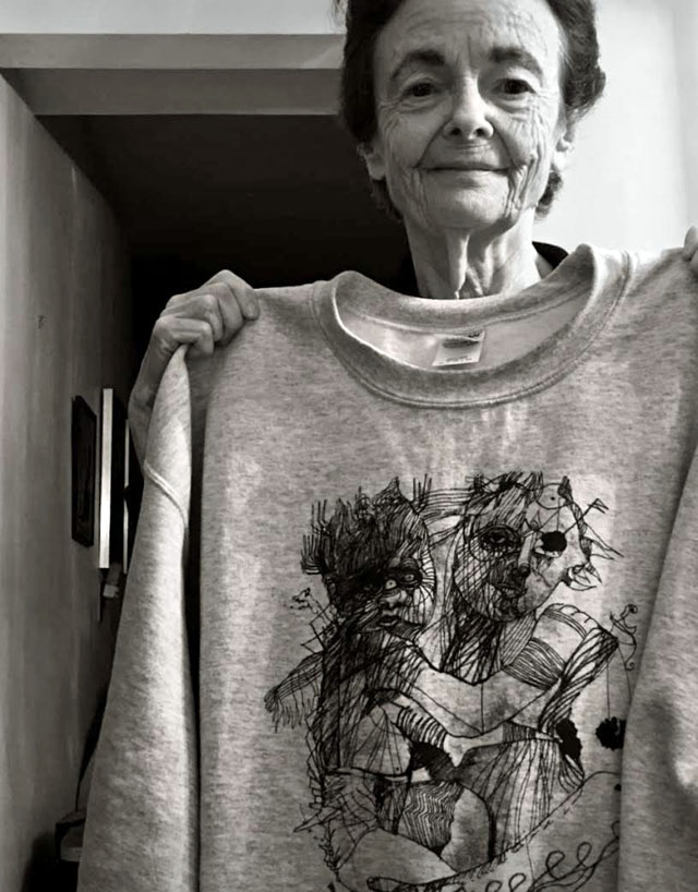 Michael Alan Mom with T shirt design Michael Alan on the Upcoming Staten Island Indoor/Outdoor Living Installation in Tribute to His Mom