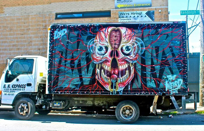 nychos art truck NYC's Stylish Trucks & Vans – from the Whimsical to the Wild, Part XV: Nychos, Uta Brauser, Urbanimal, Cash RFC, Mastrocola, Wane & Gorey