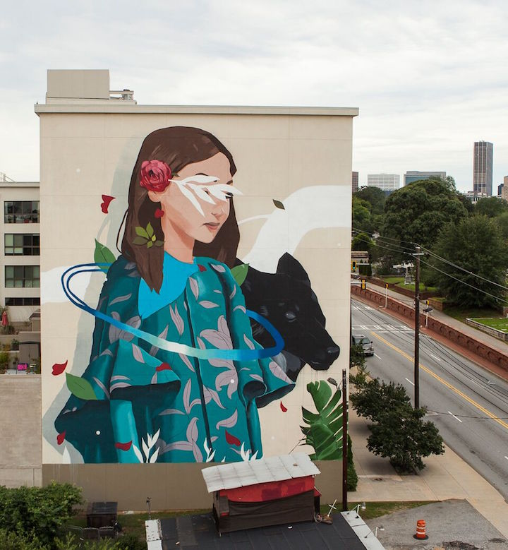 SABEK Photo by Elliot Alcalde OuterSpace Project Brings 18 New Murals to Atlanta: Patch Whisky, Nychos, Greg Mike, Yoyo Ferro, Sabek, Nase Pop, Dr. Dax & more