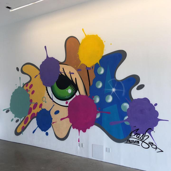 crash mural spring studios New York Edition of Urban Art Fair at Spring Studios, Part II: Revolt, Quik, JonOne, LA2, Swoon, Swiz, Alexis Duque, Nick Walker & Crash