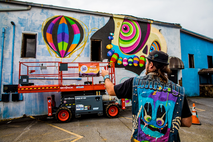 patch whiskey at work atlanta OuterSpace Project Brings 18 New Murals to Atlanta: Patch Whisky, Nychos, Greg Mike, Yoyo Ferro, Sabek, Nase Pop, Dr. Dax & more
