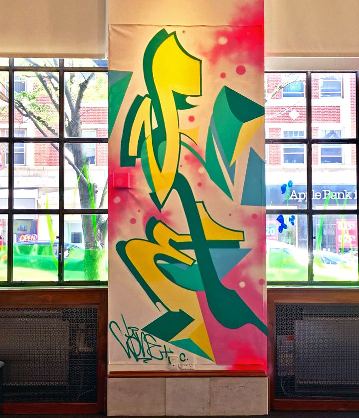 wane graffiti from the streets From the Streets: An Exhibition of Urban Art Continues through July 15 at ArtsWestchester with Tkid, Wane, Daze, Carlos Mare, BG 183, Damon, Dasic, Li Hill & more