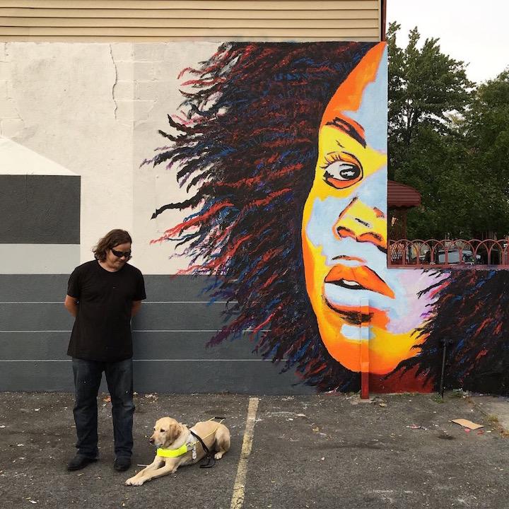 An Interview With Blind Artist John Bramblitt At JMZ Walls - Blind artist
