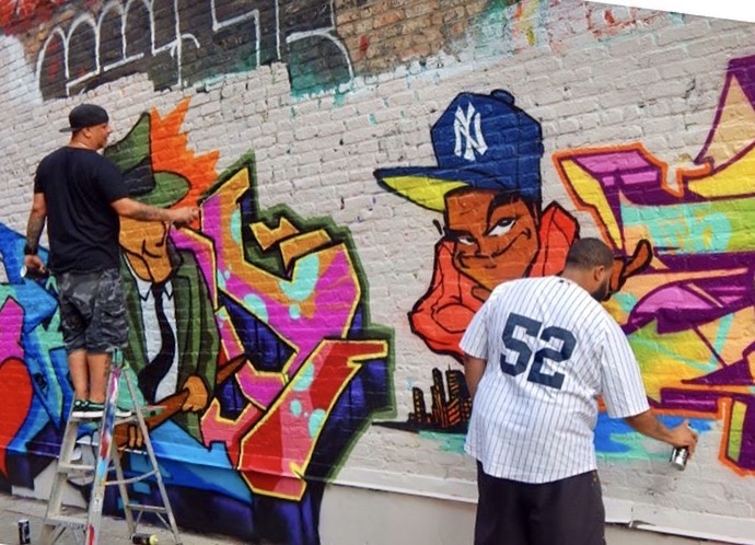 Graff Masters T Kid And Doves At Work