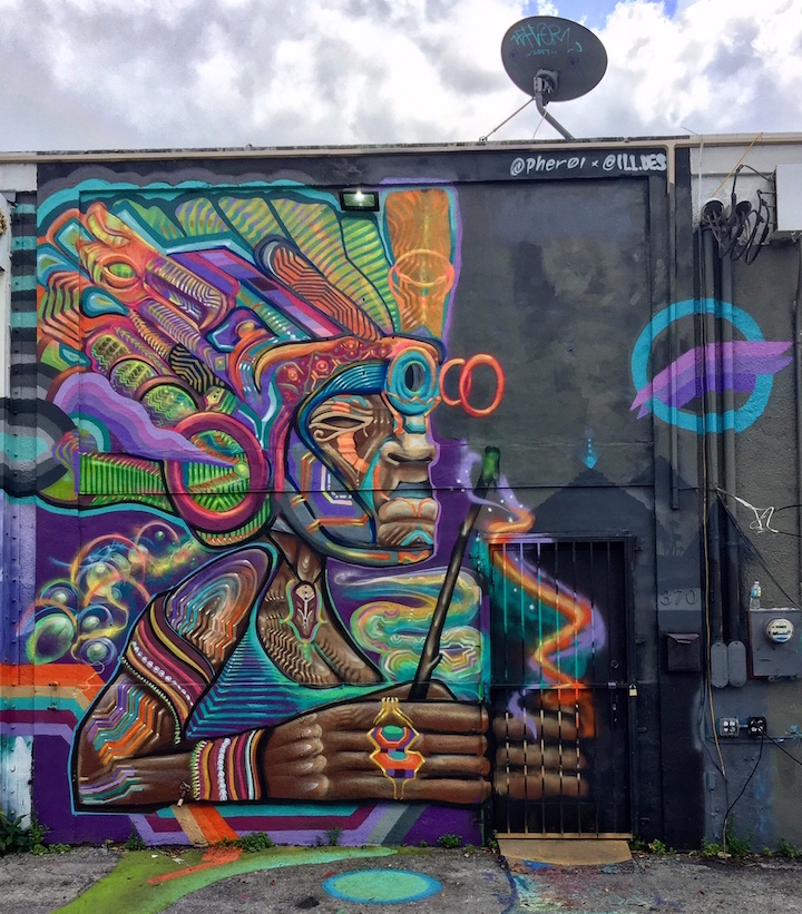 Guys on Miami Walls: Street Art by Lady Pink, Smog One and more