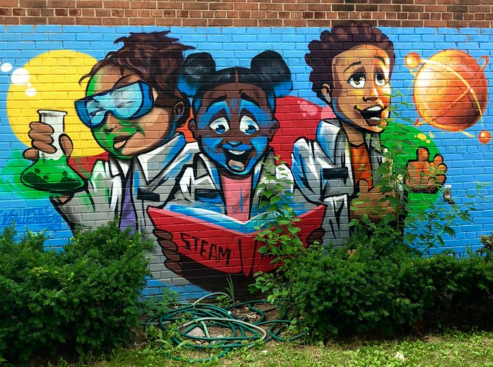 jeff beler on curating the steam mural project at ps 9 in brooklyn